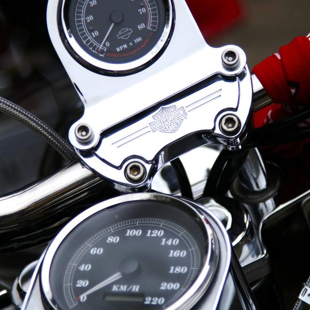 """Harley Davidson Motorcycle"" stock image"