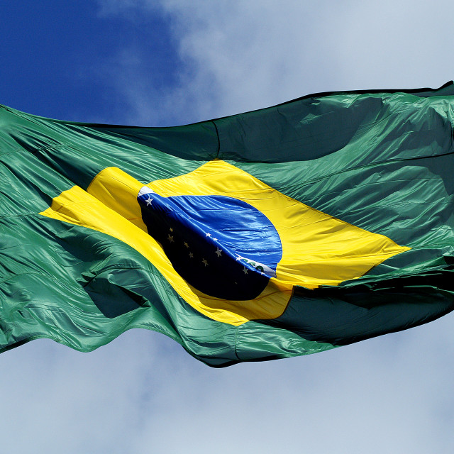 """The Brazilian Flag"" stock image"