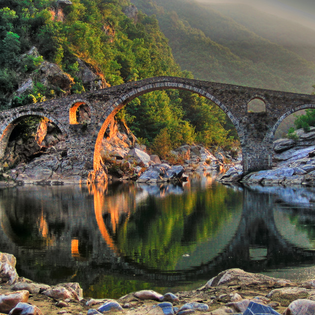 """Devil's bridge"" stock image"