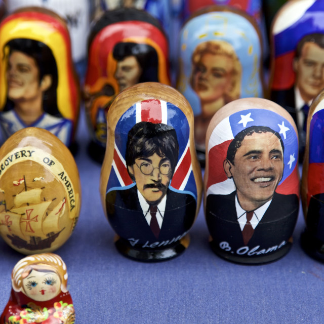 """Russian Dolls, NYC"" stock image"