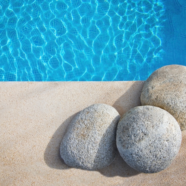 """Swimming pool background stones"" stock image"