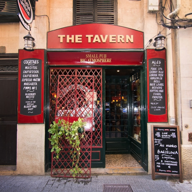 """""""The Tavern on Calle Apuntadores"""" stock image"""