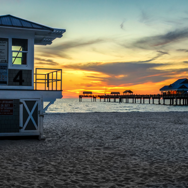 """End Of A Sunny Clearwater Day"" stock image"