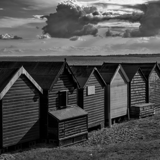 """Behind the Beach Huts"" stock image"