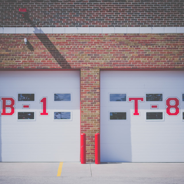 """Fire station"" stock image"
