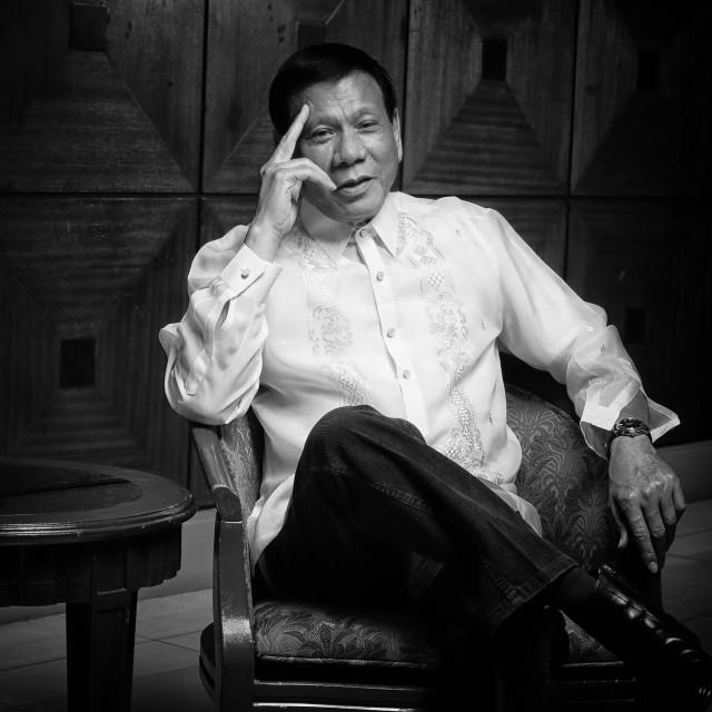 """""""President Rodrigo Roa Duterte"""" stock image"""