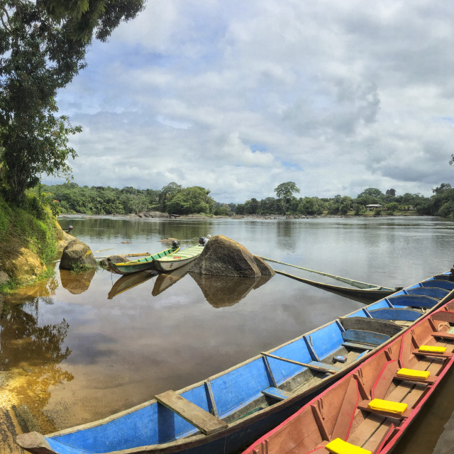 """""""Karjoles in the Suriname river"""" stock image"""
