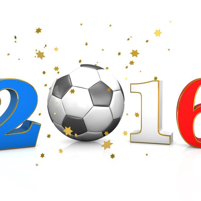 """Football France 2016"" stock image"