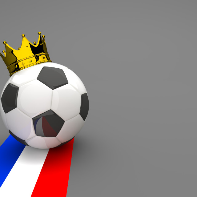 """""""Football Golden Crown France"""" stock image"""