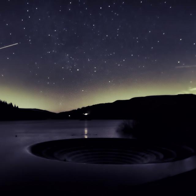 """""""Stars over Ladybower"""" stock image"""