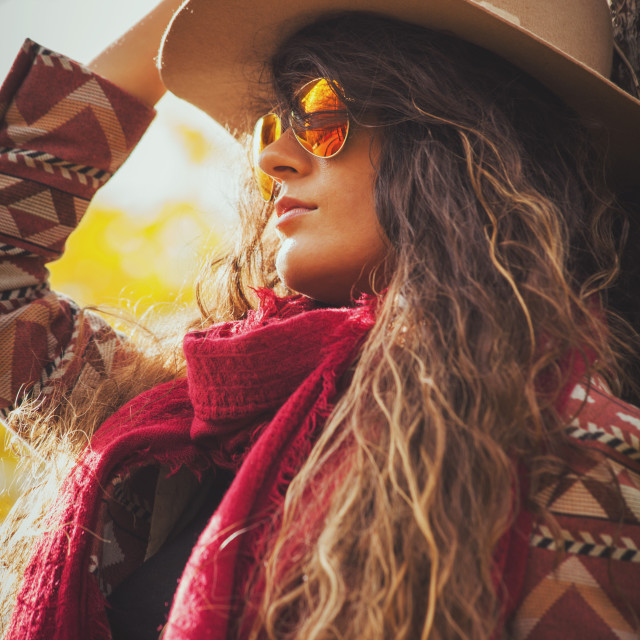"""""""autumn fashion woman outdoor"""" stock image"""