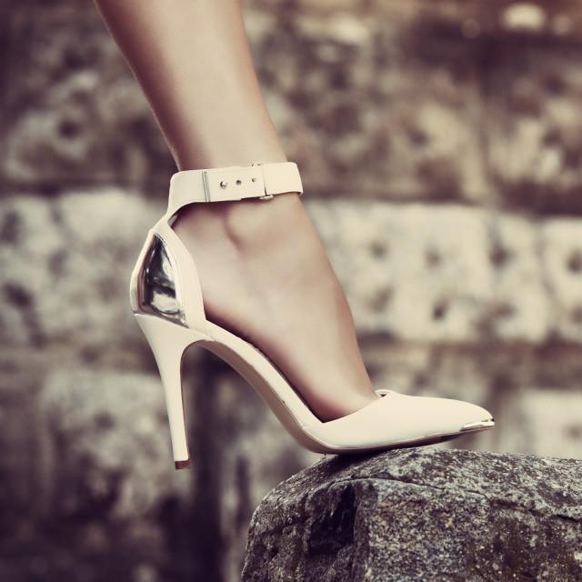 """elegant high heel shoes"" stock image"