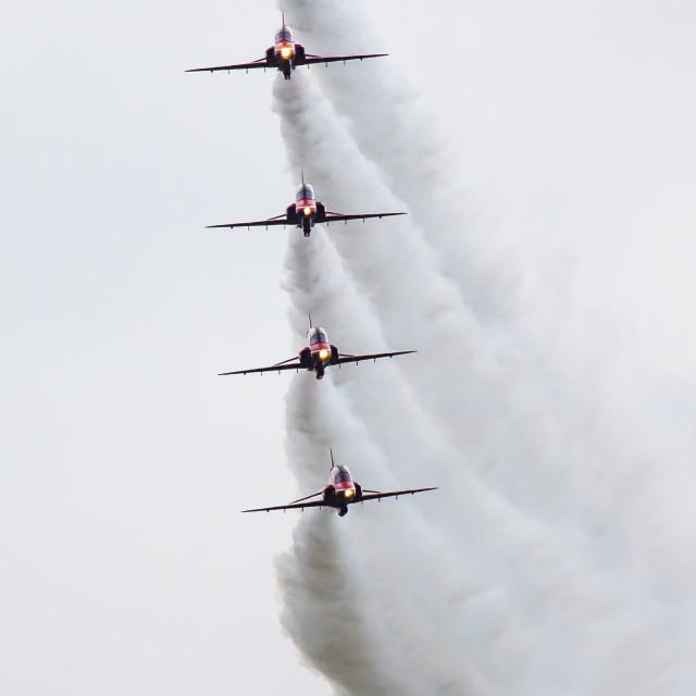 """Red Arrows White Smoke"" stock image"