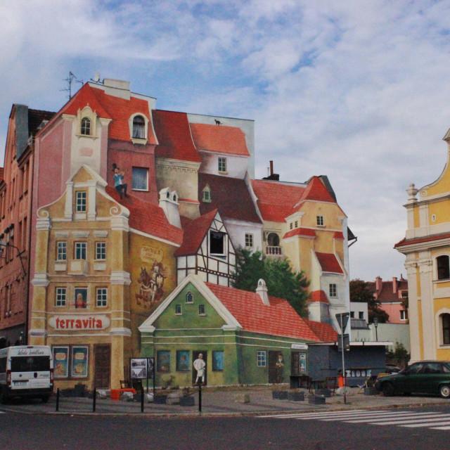 """Poznań Street Mural"" stock image"