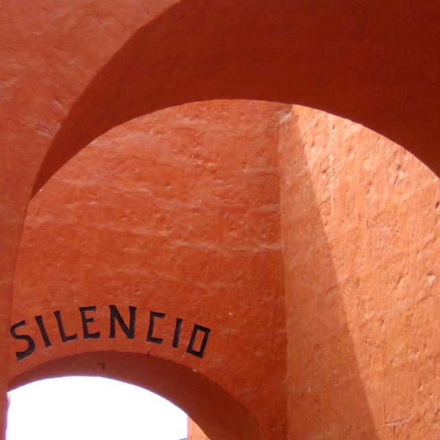 """""""Silencio"""" stock image"""