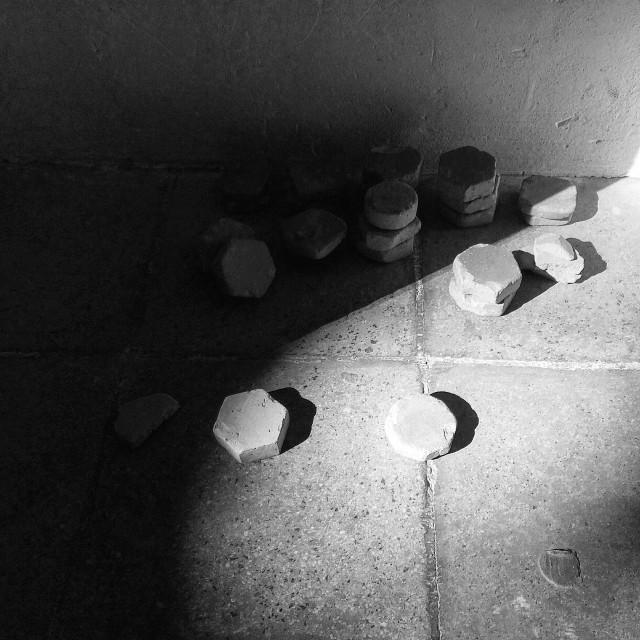 """stones to pray 1"" stock image"
