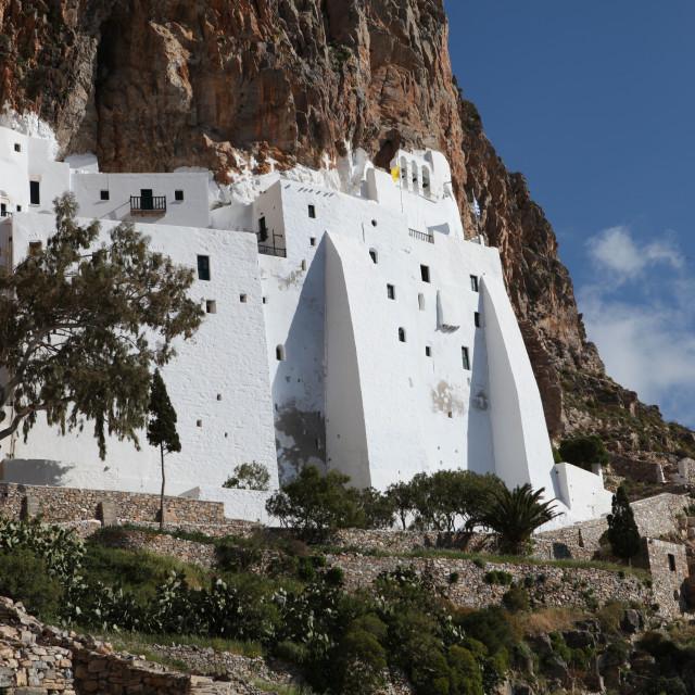 """Panagia Hozoviotissa monastery"" stock image"