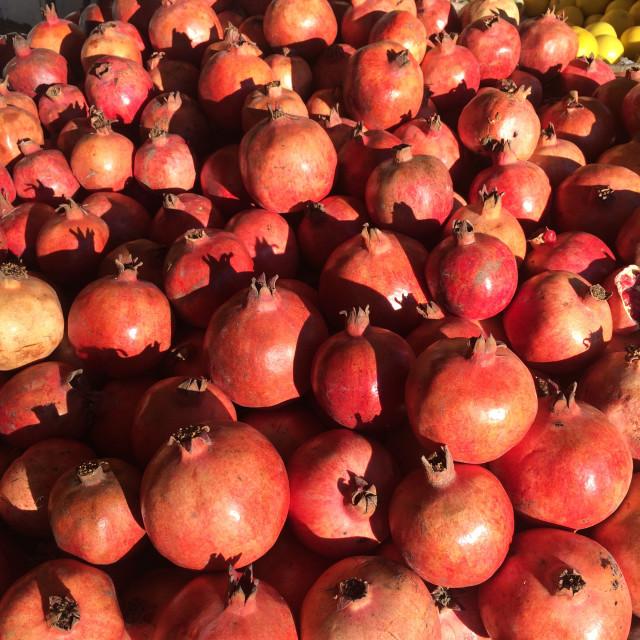 """pomegranates 1"" stock image"