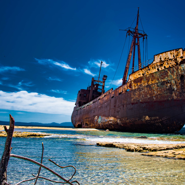 """Shipwreck of the Dimitrios."" stock image"