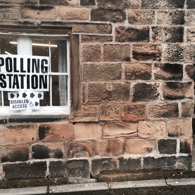 """Polling station outside"" stock image"