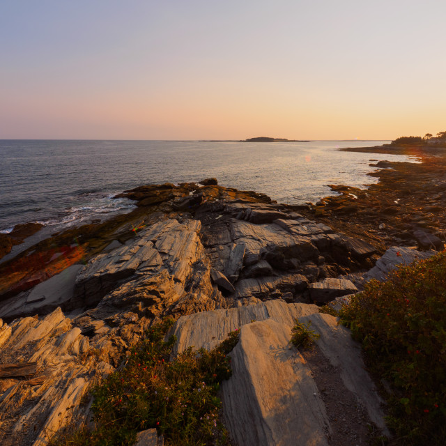 """Cape Elizabeth Sunset"" stock image"