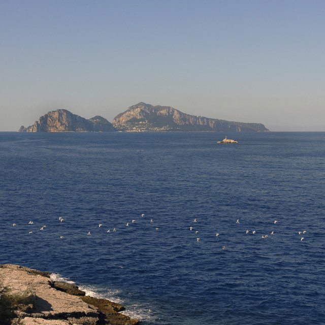 """Italy,Capri; view from Capo di Sorrento."" stock image"