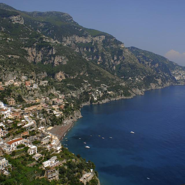 """Campania,Italy; Amalfitan coast: Positano, landscape."" stock image"
