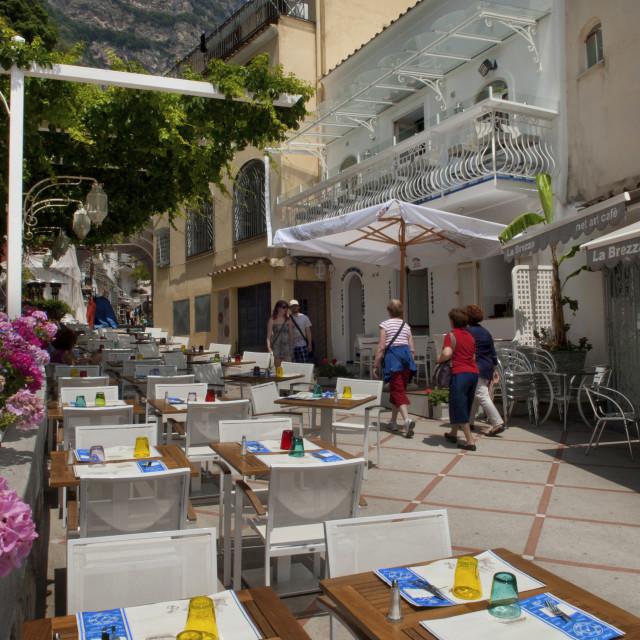 """Campania,Italy; Amalfitan coast: Positano"" stock image"