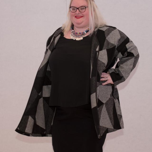 """""""UK Plus Size Fashion Week Catwalk Show"""" stock image"""