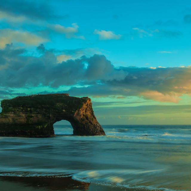 """The Natural Bridge Rock"" stock image"