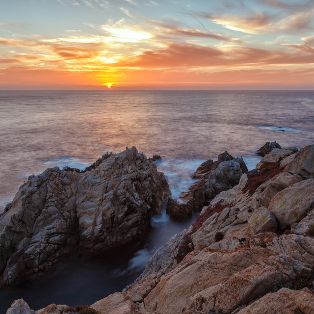 """Sunset Over Pt. Lobos"" stock image"