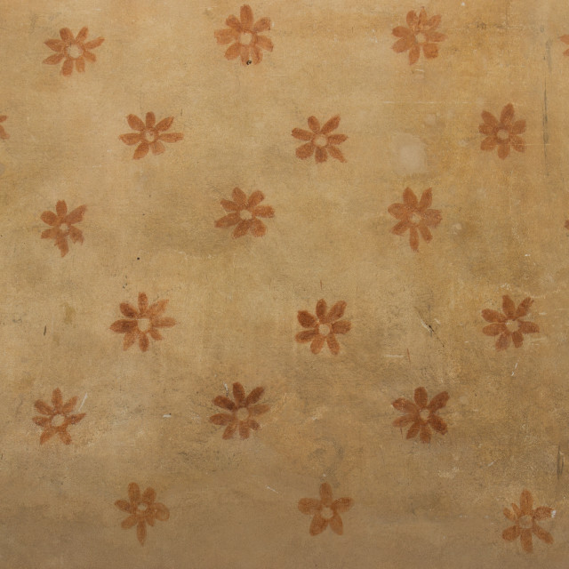 """Detail of an old antique decorated wall"" stock image"