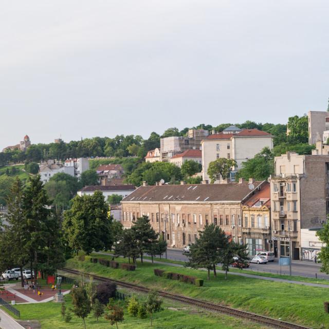 """BELGRADE, SERBIA - MAY 27, 2016: Belgrade panorama of the famous"" stock image"