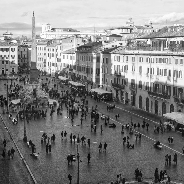 """Roma, Piazza Navona"" stock image"
