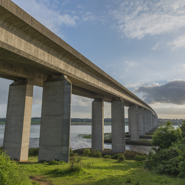 """Orwell Bridge in Suffolk"" stock image"