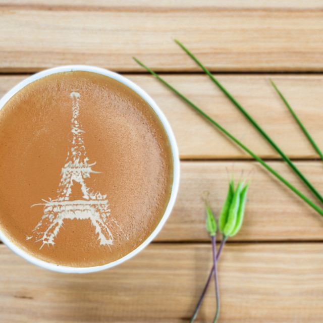 """Coffee Latte Paris"" stock image"