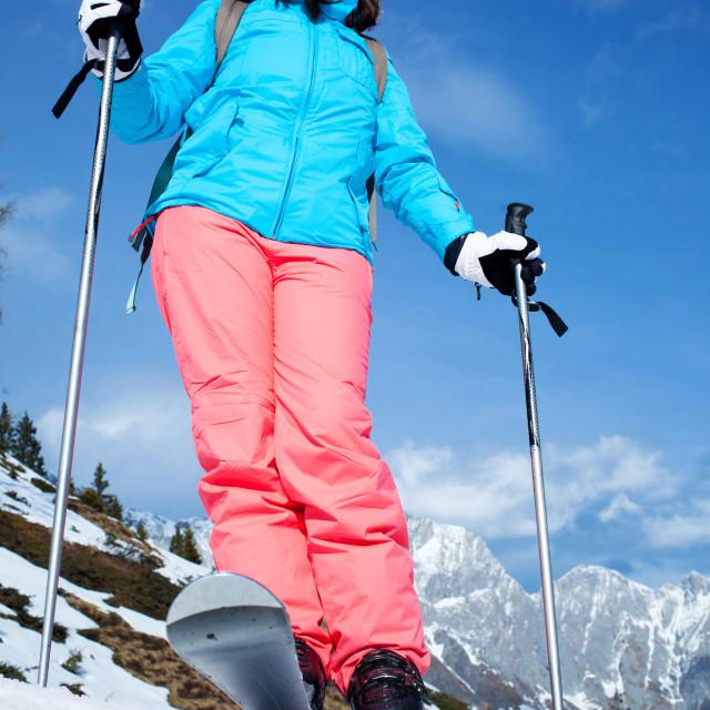 """female skier"" stock image"