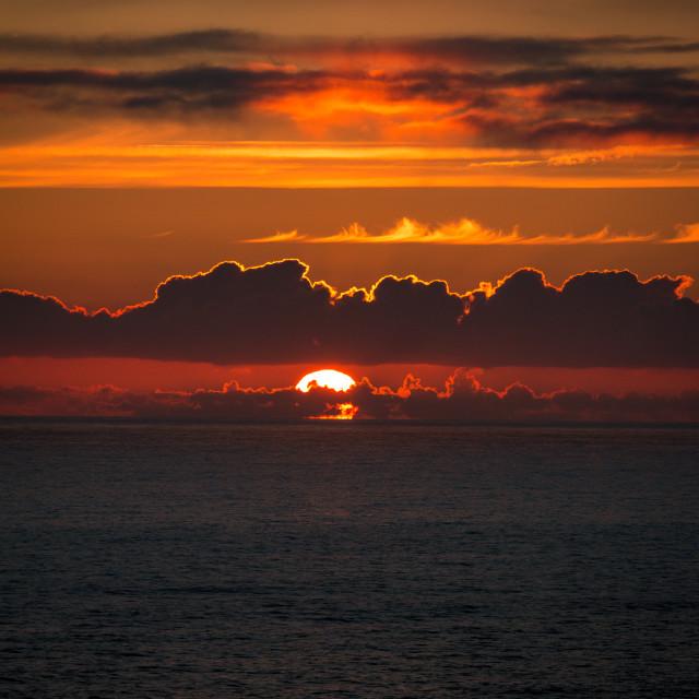"""Sun Setting"" stock image"