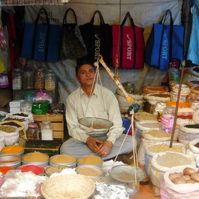 """Market seller, India"" stock image"