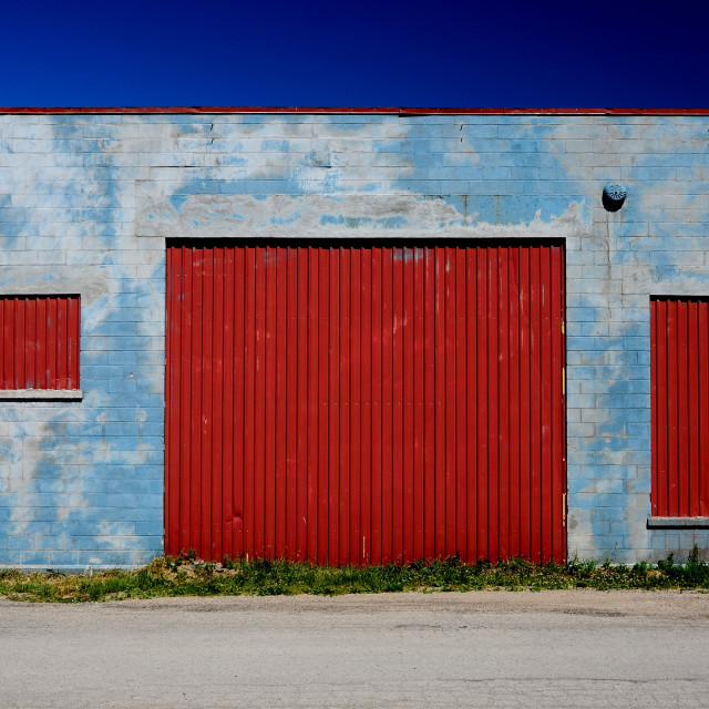 """Industrial Garage"" stock image"