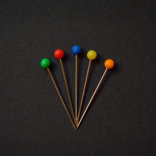 """Multi-Coloured Head Pins"" stock image"