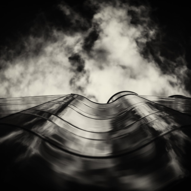 """Cloud and Curve 2"" stock image"