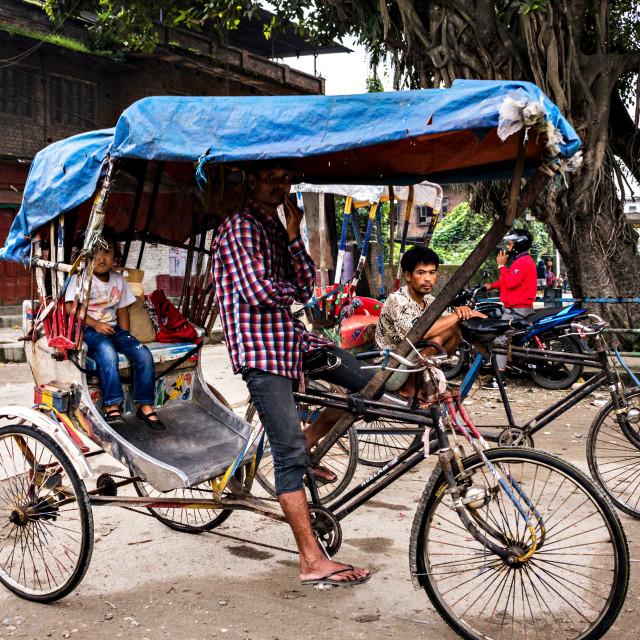 """Rickshaw Drivers"" stock image"