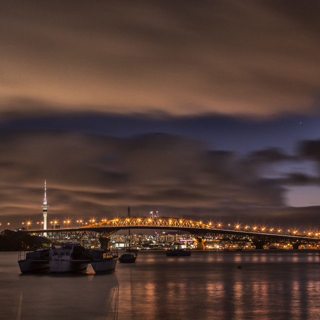 """Auckland Harbour Bridge"" stock image"
