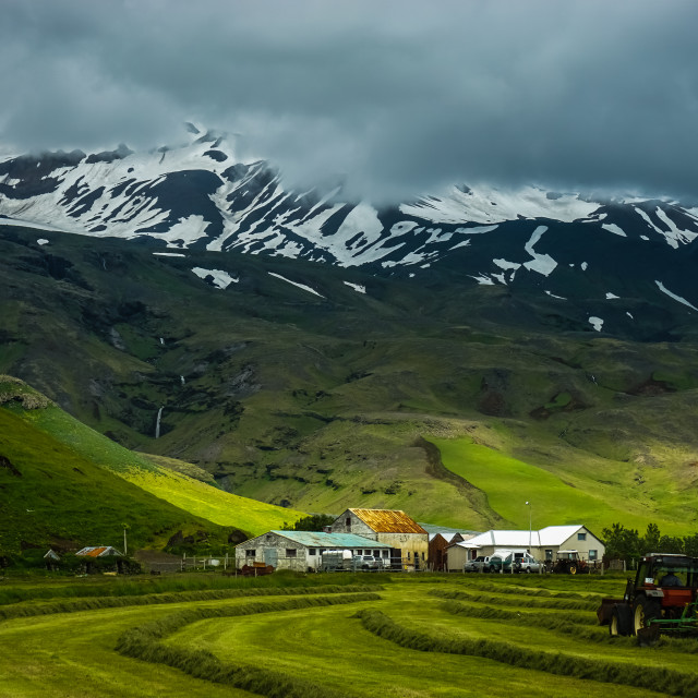 """iceland farm"" stock image"