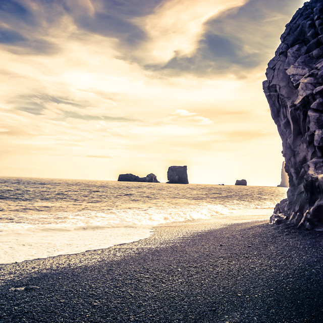 """iceland beach"" stock image"