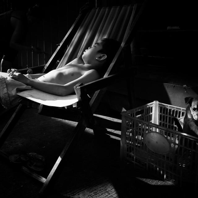 """Street Scene of Manila."" stock image"