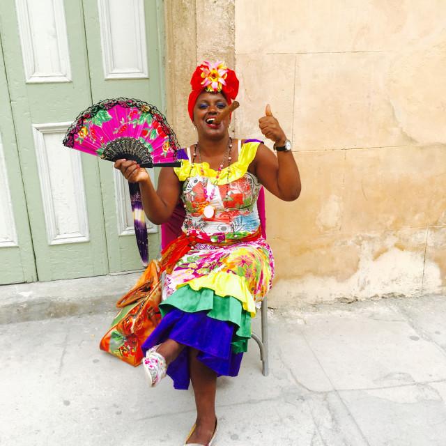 """Cuba cigar queen"" stock image"