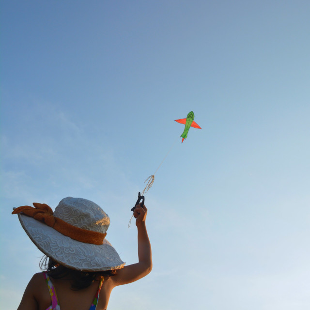 """Fly a kite 2"" stock image"
