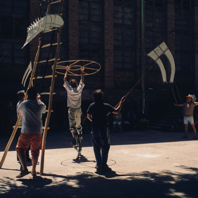 """Outdoor street rehearsal"" stock image"